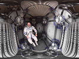Weightless inside International Space Station by marijeberting