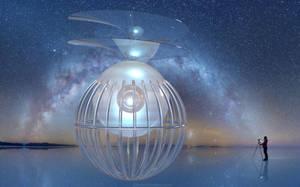 Daniel Kordan captured a Milky Way Space Ship by marijeberting