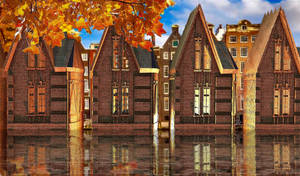 Amsterdam canal houses by marijeberting