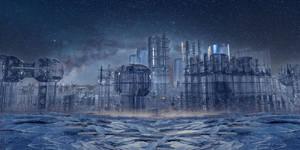 Frozen city by marijeberting