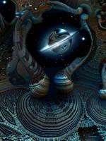 Reflective planet by marijeberting