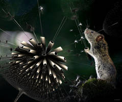 The mouse and the fractal dandelion by marijeberting