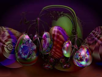 Painting Easter Eggs by marijeberting