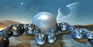 An Alien Solar System by marijeberting