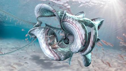 Water nymph in het jellyfish home by marijeberting