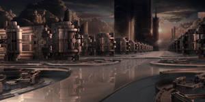 Industrial Park at sundown by marijeberting