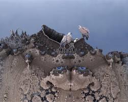 Griffon Vultures (Gyps fulvus), at Nest by marijeberting
