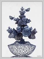 Butterfly plant in Hextgrid pot by marijeberting