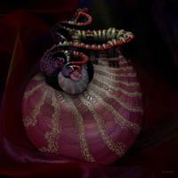 Jar on a silk cloth by marijeberting