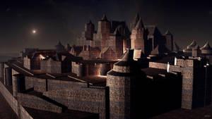 Castle by night by marijeberting