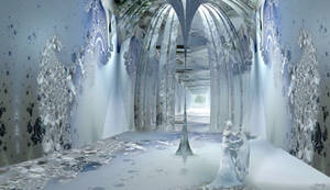 Ice Queen in her Ice Palace by marijeberting