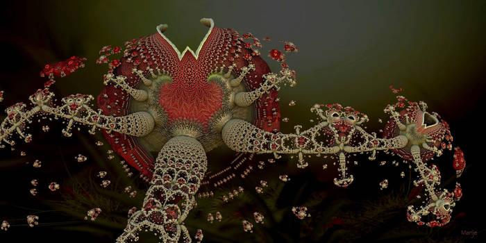 Flower bulb bursting Into bloom by marijeberting