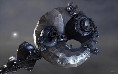Alien Spacecraft ... by marijeberting