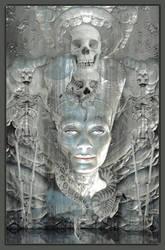 Nefertiti meets HR Giger by marijeberting