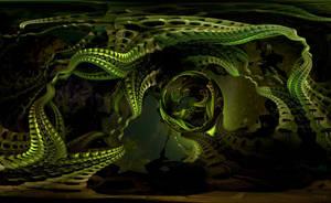 Bioluminescent eels by marijeberting