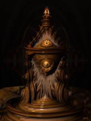 Wooden Baroque Reliquary by marijeberting