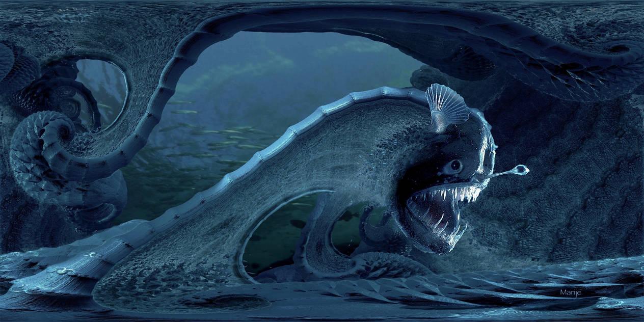 Monster of the deep ... by marijeberting