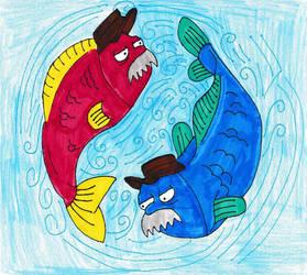 Futurama Zodiac - Scruffy as Pisces by Spaceman130