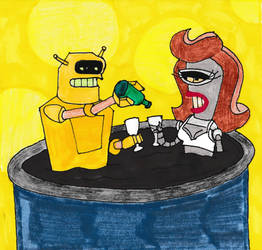 Calculon + Coilette by Spaceman130