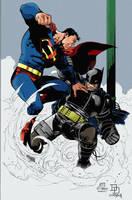 Superman vs Batman by Diragon12