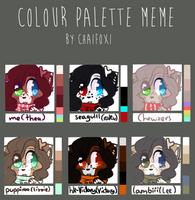 Colour Palette Meme by magpaii