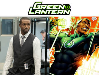 Rob Brown as John Stewart (Green Lantern) by MZimmer1985