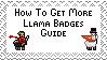 Get Moar Llama Badges Stamp by wintercool612