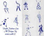 Doodle Fashion Line by wintercool612