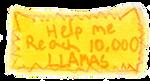 10,000 Llamas Stamp by wintercool612