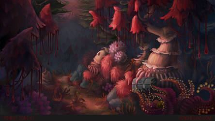 Environment Concept Art Yen Shu Liao Mushroom Fore by YSLiao