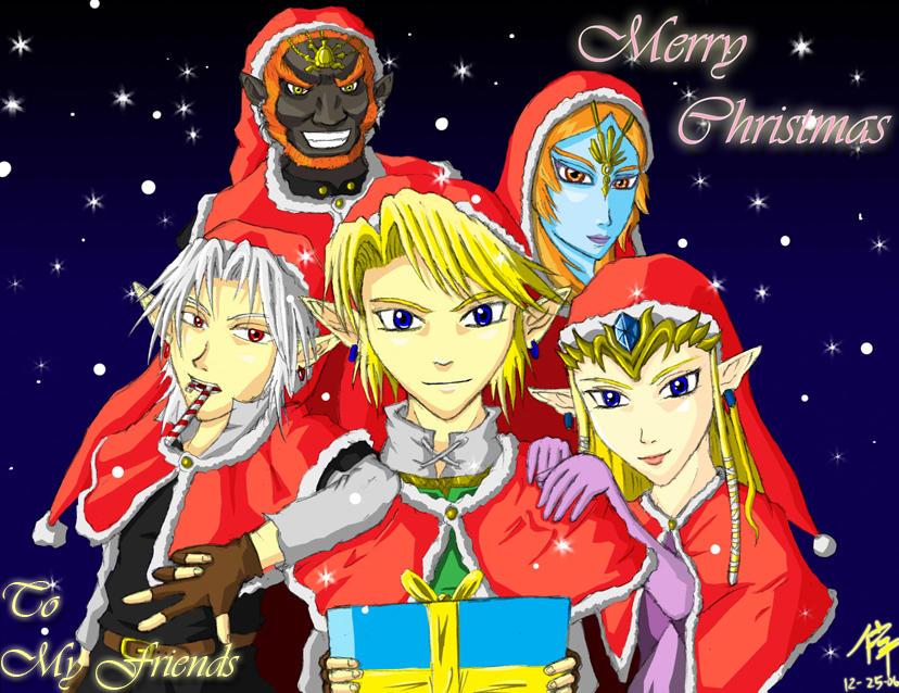 Zelda Merry Christmas by The-Blue-Wind on DeviantArt