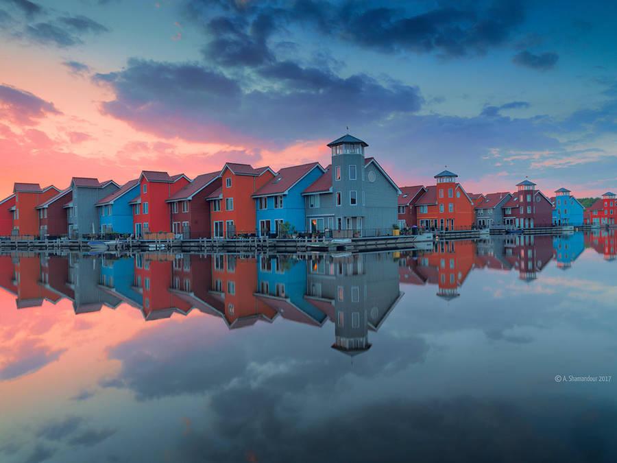 Rainbow Houses by ashamandour