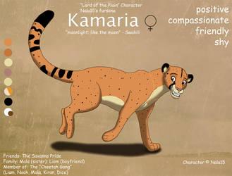 Kamaria Ref Sheet - My Fursona by Nala15