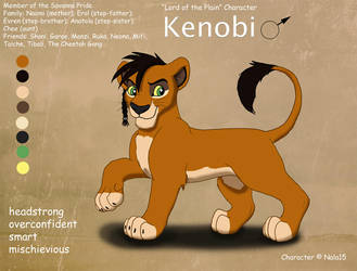 Kenobi Ref Sheet by Nala15