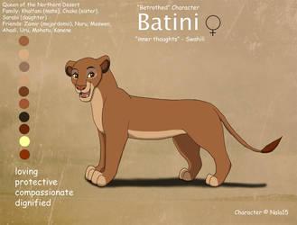 Batini Ref Sheet by Nala15