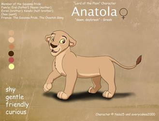 Anatola Ref Sheet by Nala15