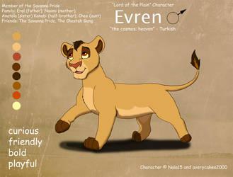 Evren Ref Sheet by Nala15
