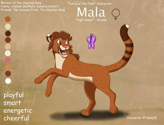 Mala Ref Sheet - My Sister's Fursona by Nala15