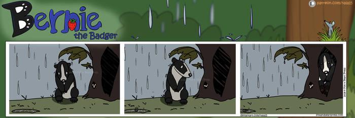 Bernie the Badger #1 - Rainy Day by Nala15