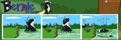Bernie the Badger #2 - Bathtime by Nala15