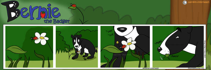 Bernie the Badger #3 - Ladybug Lunch by Nala15