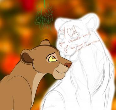YCH with Chaka - Under the Mistletoe [1/3 OPEN] by Nala15