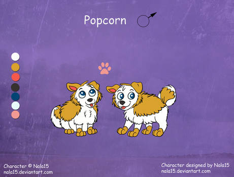 Popcorn - Ref Sheet (Fuzzles) by Nala15