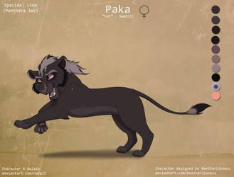 Paka Ref Sheet (secret project OC) by Nala15