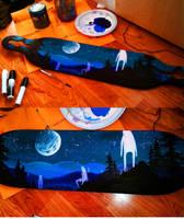 Longboard painting by JACKIEthePIRATE