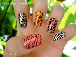 Animal Print Nails by jeealee