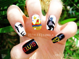Elvis Nails by jeealee
