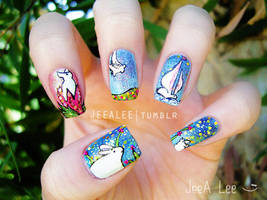 The Runaway Bunny Nails by jeealee