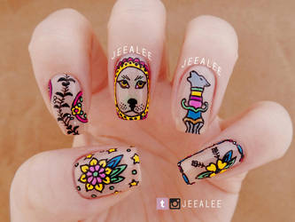 Tattoo Nails by jeealee