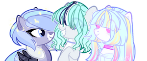 MLP OC|Shikki|Zolly|Miyoko (friends) by ToffeeLavender